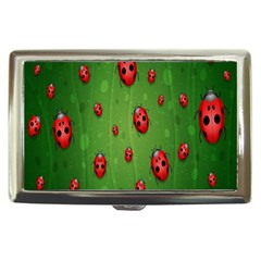 Ladybugs Red Leaf Green Polka Animals Insect Cigarette Money Cases by Mariart