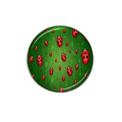 Ladybugs Red Leaf Green Polka Animals Insect Hat Clip Ball Marker (10 Pack) by Mariart
