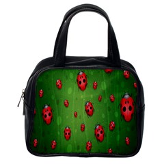 Ladybugs Red Leaf Green Polka Animals Insect Classic Handbags (one Side) by Mariart