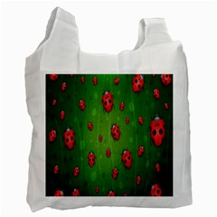 Ladybugs Red Leaf Green Polka Animals Insect Recycle Bag (one Side) by Mariart