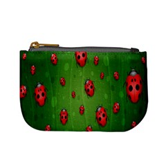 Ladybugs Red Leaf Green Polka Animals Insect Mini Coin Purses
