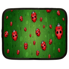 Ladybugs Red Leaf Green Polka Animals Insect Netbook Case (xxl)  by Mariart