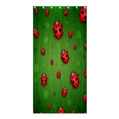 Ladybugs Red Leaf Green Polka Animals Insect Shower Curtain 36  X 72  (stall)