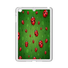 Ladybugs Red Leaf Green Polka Animals Insect Ipad Mini 2 Enamel Coated Cases by Mariart