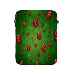 Ladybugs Red Leaf Green Polka Animals Insect Apple Ipad 2/3/4 Protective Soft Cases by Mariart