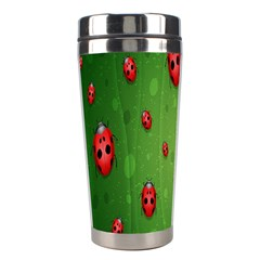 Ladybugs Red Leaf Green Polka Animals Insect Stainless Steel Travel Tumblers by Mariart