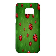 Ladybugs Red Leaf Green Polka Animals Insect Samsung Galaxy S7 Edge Hardshell Case