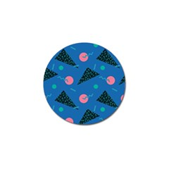 Seamless Triangle Circle Blue Waves Pink Golf Ball Marker (4 Pack) by Mariart