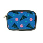 Seamless Triangle Circle Blue Waves Pink Coin Purse Front