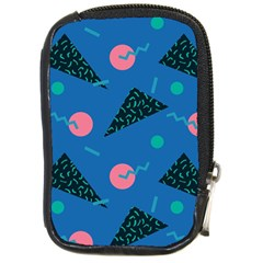 Seamless Triangle Circle Blue Waves Pink Compact Camera Cases by Mariart