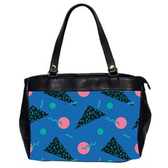 Seamless Triangle Circle Blue Waves Pink Office Handbags (2 Sides)  by Mariart