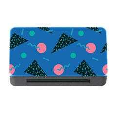 Seamless Triangle Circle Blue Waves Pink Memory Card Reader With Cf
