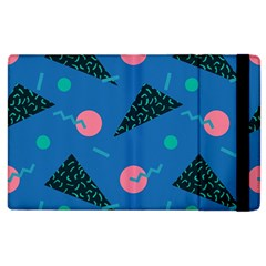 Seamless Triangle Circle Blue Waves Pink Apple Ipad 2 Flip Case by Mariart