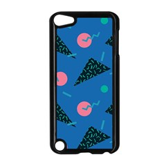 Seamless Triangle Circle Blue Waves Pink Apple Ipod Touch 5 Case (black) by Mariart