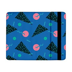 Seamless Triangle Circle Blue Waves Pink Samsung Galaxy Tab Pro 8 4  Flip Case by Mariart