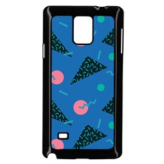 Seamless Triangle Circle Blue Waves Pink Samsung Galaxy Note 4 Case (black) by Mariart
