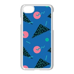 Seamless Triangle Circle Blue Waves Pink Apple Iphone 7 Seamless Case (white) by Mariart