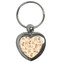 Sheep Goats Paper Scissors Key Chains (heart)  by Mariart