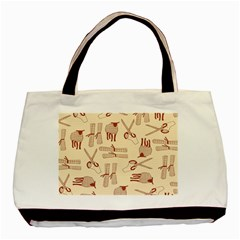 Sheep Goats Paper Scissors Basic Tote Bag (two Sides) by Mariart