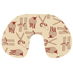 Sheep Goats Paper Scissors Travel Neck Pillows by Mariart