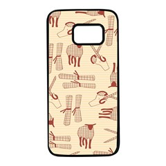 Sheep Goats Paper Scissors Samsung Galaxy S7 Black Seamless Case by Mariart