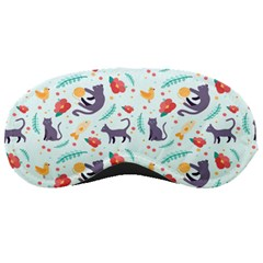 Redbubble Animals Cat Bird Flower Floral Leaf Fish Sleeping Masks by Mariart