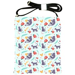 Redbubble Animals Cat Bird Flower Floral Leaf Fish Shoulder Sling Bags by Mariart