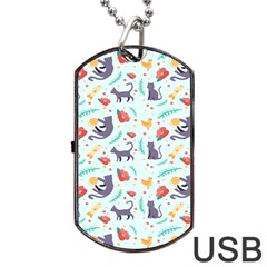 Redbubble Animals Cat Bird Flower Floral Leaf Fish Dog Tag Usb Flash (two Sides) by Mariart