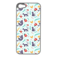 Redbubble Animals Cat Bird Flower Floral Leaf Fish Apple Iphone 5 Case (silver) by Mariart