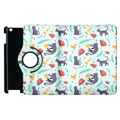 Redbubble Animals Cat Bird Flower Floral Leaf Fish Apple Ipad 3/4 Flip 360 Case by Mariart