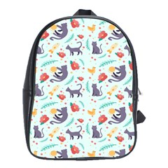 Redbubble Animals Cat Bird Flower Floral Leaf Fish School Bags (xl)  by Mariart