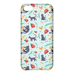 Redbubble Animals Cat Bird Flower Floral Leaf Fish Apple Iphone 5c Hardshell Case by Mariart