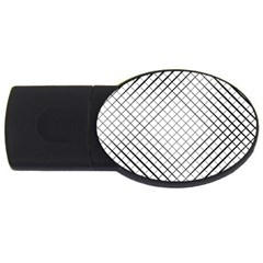 Simple Pattern Waves Plaid Black White Usb Flash Drive Oval (2 Gb) by Mariart