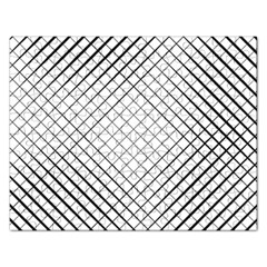 Simple Pattern Waves Plaid Black White Rectangular Jigsaw Puzzl by Mariart