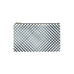Simple Pattern Waves Plaid Black White Cosmetic Bag (small)  by Mariart