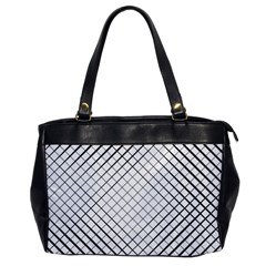 Simple Pattern Waves Plaid Black White Office Handbags by Mariart