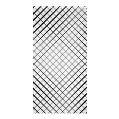 Simple Pattern Waves Plaid Black White Shower Curtain 36  X 72  (stall)