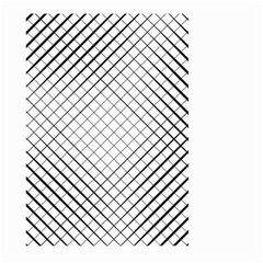 Simple Pattern Waves Plaid Black White Large Garden Flag (two Sides) by Mariart