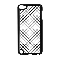 Simple Pattern Waves Plaid Black White Apple Ipod Touch 5 Case (black) by Mariart