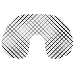 Simple Pattern Waves Plaid Black White Travel Neck Pillows by Mariart