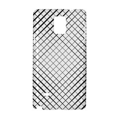 Simple Pattern Waves Plaid Black White Samsung Galaxy Note 4 Hardshell Case
