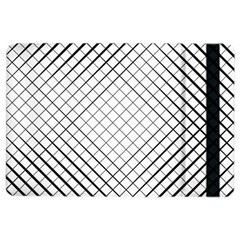 Simple Pattern Waves Plaid Black White Ipad Air 2 Flip by Mariart