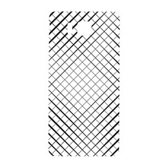 Simple Pattern Waves Plaid Black White Samsung Galaxy Alpha Hardshell Back Case by Mariart