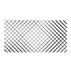 Simple Pattern Waves Plaid Black White Satin Wrap by Mariart