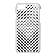 Simple Pattern Waves Plaid Black White Apple Iphone 7 Seamless Case (white) by Mariart