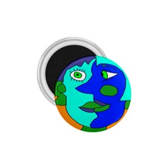 Visual Face Blue Orange Green Mask 1 75  Magnets by Mariart
