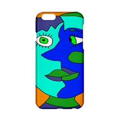 Visual Face Blue Orange Green Mask Apple Iphone 6/6s Hardshell Case by Mariart