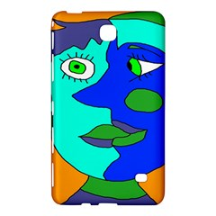 Visual Face Blue Orange Green Mask Samsung Galaxy Tab 4 (7 ) Hardshell Case  by Mariart