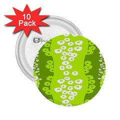 Sunflower Green 2 25  Buttons (10 Pack)  by Mariart