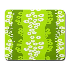 Sunflower Green Large Mousepads by Mariart